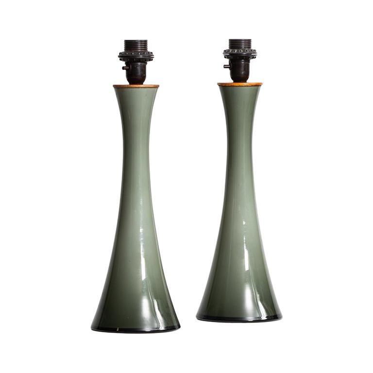 Berndt Nordstedt Table Lamps Produced by Bergbom in Sweden