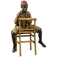 Bernhard Bloch, Life-Size Terracotta of a Boy from North Africa