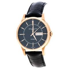 Bernhard H Mayer Black Rose Gold PVD Plated Stainless Steel Wristwatch 42MM