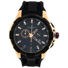 Bernhard H. Mayer Black Rose Gold Victor Chronograph Men's Wristwatch 50 mm