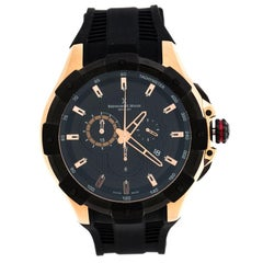 Bernhard H. Mayer Black Rose Steel Victor Chronograph Men's Wristwatch 50 mm