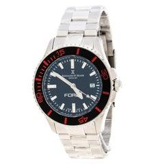 Bernhard H Mayer Black Stainless Steel Force Maximus Men's Wristwatch 43MM