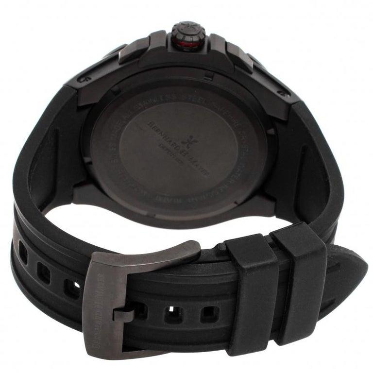 Bernhard H. Mayer Black Victor Chronograph Men's Wristwatch 50 mm 1