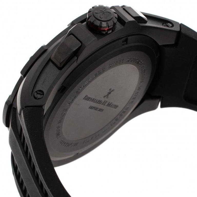 Bernhard H. Mayer Black Victor Chronograph Men's Wristwatch 50 mm 2