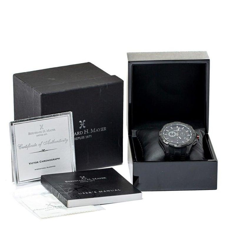 Bernhard H. Mayer Black Victor Chronograph Men's Wristwatch 50 mm 4