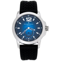 Bernhard H. Mayer Blue Stainless Steel Black Silicon Drift Men's Wristwatch 44mm
