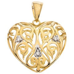 Bernhard H. Mayer Clara Diamond 18K Yellow Gold Heart Pendant
