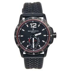 Bernhard H. Mayer Plated Stainless Steel Rubber Drift Glider Men's Wristwatch 44