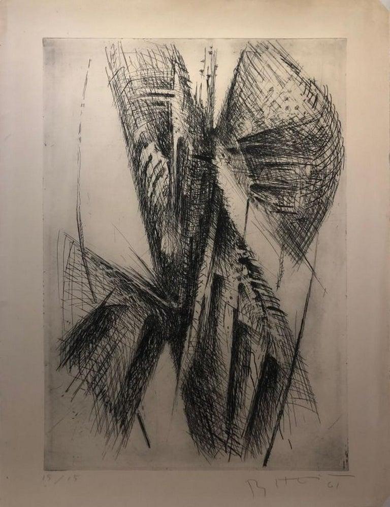 Bernhard Heiliger Abstract Print - No title