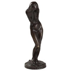 "Bernhard Hoetger ""La Pleureuse"" Bronze Sculpture"