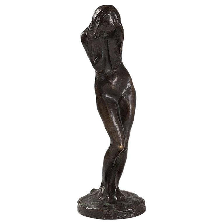 "Bernhard Hoetger ""La Pleureuse"" Bronze Sculpture For Sale"