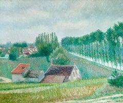 La Canale a Moret - Impressionist Oil, Canal in Landscape by Bernardus Klene