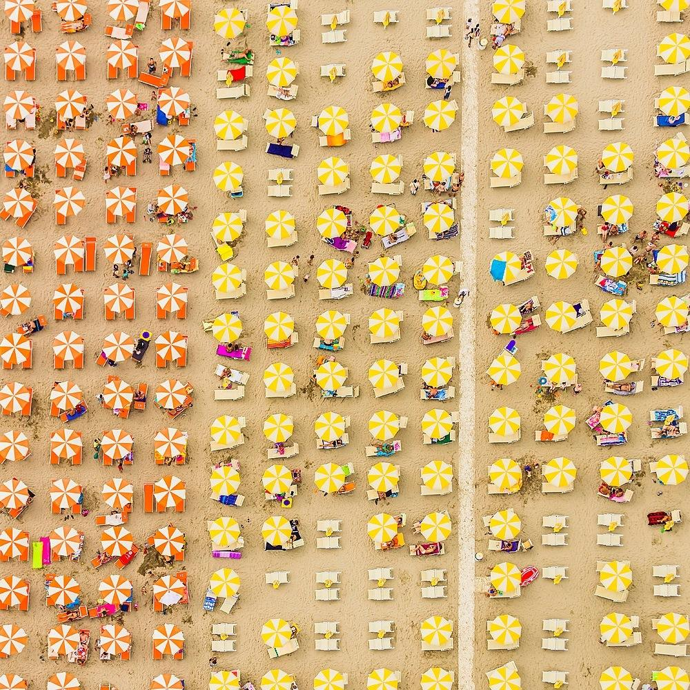 Adria 09 by Bernhard Lang - Aerial abstract photography, Italy's Adriatic Coast