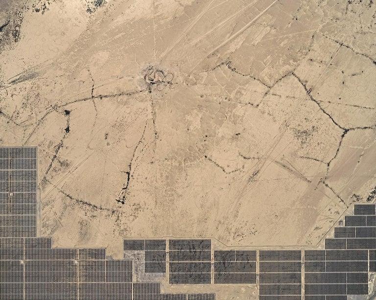 Bernhard Lang Abstract Photograph - Solar Plants 004 (USA), Aerial abstract photography