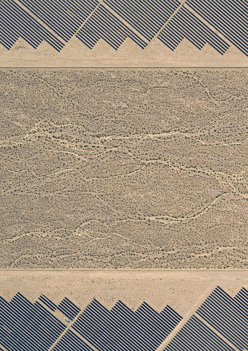 Solar Plants 008 (USA), Aerial abstract photography