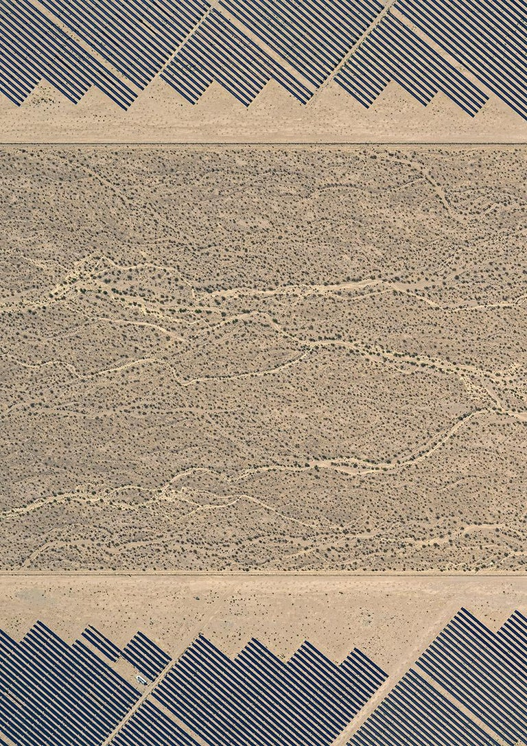Bernhard Lang Abstract Photograph - Solar Plants 008 (USA), Aerial abstract photography