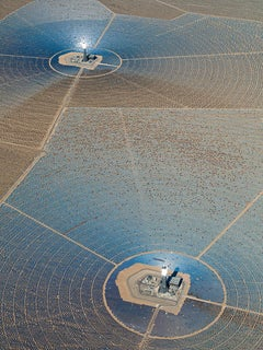 Solar Plants 010 (USA), Aerial abstract photography