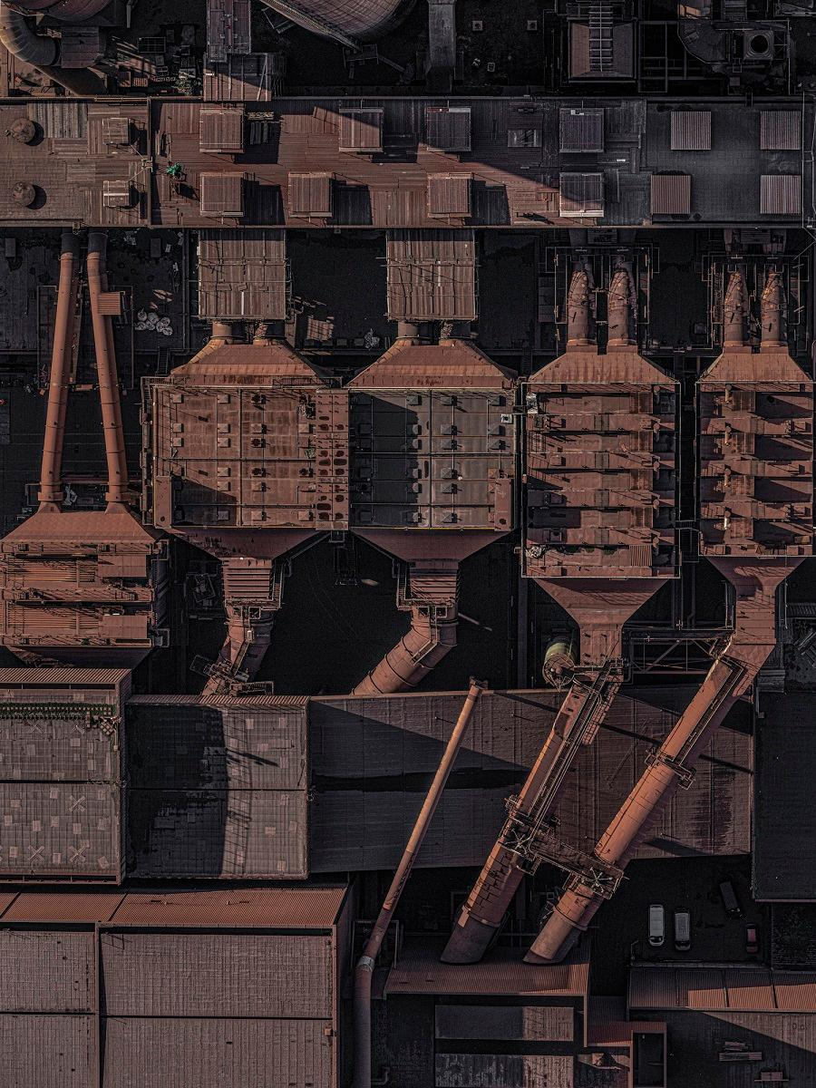 Stahlwerk 014, Aerial abstract photography