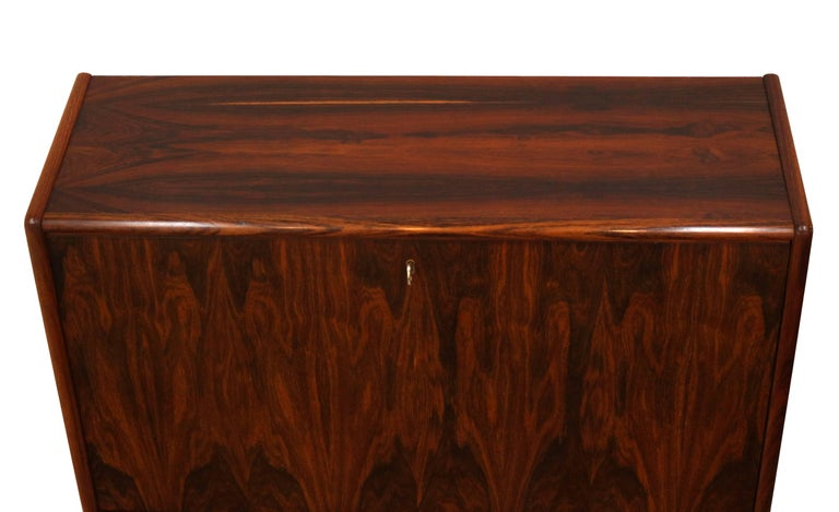 Danish Bernhard Pedersen & Son Rosewood Secretary For Sale