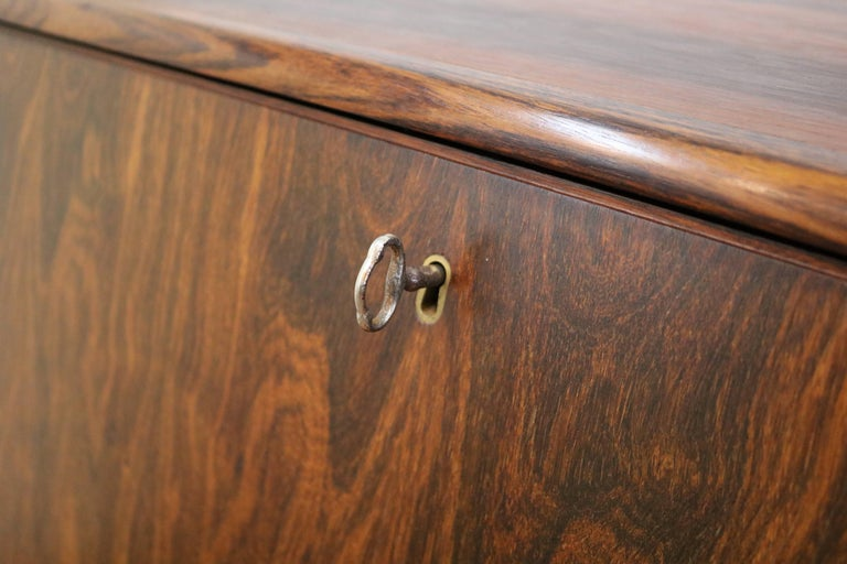 Bernhard Pedersen & Son Rosewood Secretary In Good Condition For Sale In Portland, OR