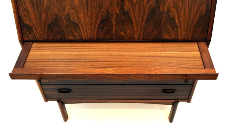 20th Century Bernhard Pedersen & Son Rosewood Secretary For Sale