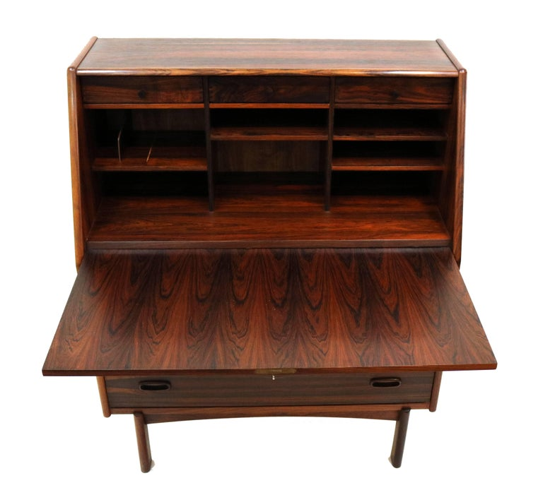 Bernhard Pedersen & Son Rosewood Secretary For Sale 1