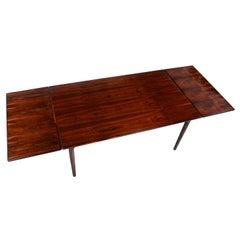 Bernhard Pedersen & Sons Danish Rosewood Extendable Draw Leaf Dining Table