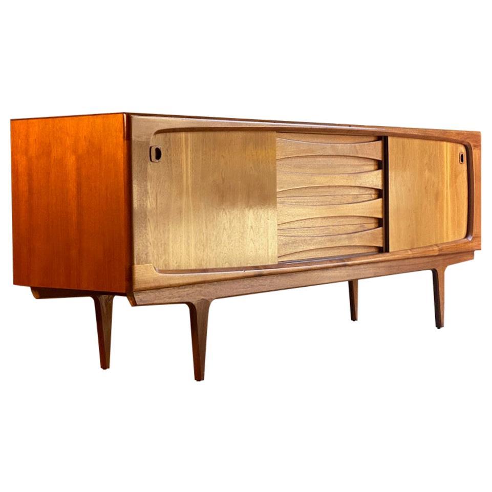 Bernhard Pedersen Teak Sideboard Credenza Mid-Century Modern, Danish, 1970s
