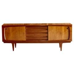 Bernhard Pedersen Teak Sideboard Credenza Mid-Century Modern Danish, 1970s