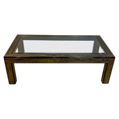 Bernhard Rohne for Mastercraft Acid Etched Brass Coffee Table