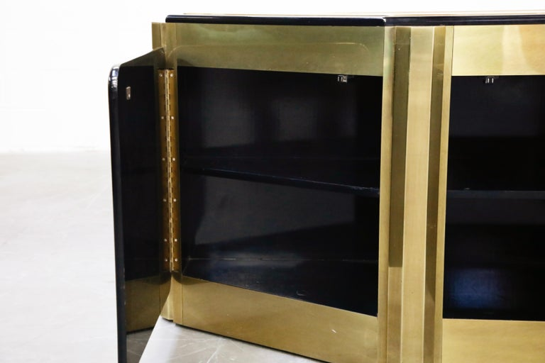 Bernhard Rohne for Mastercraft Acid Etched Brass 'Tree of Life' Cabinet, 1970s For Sale 4