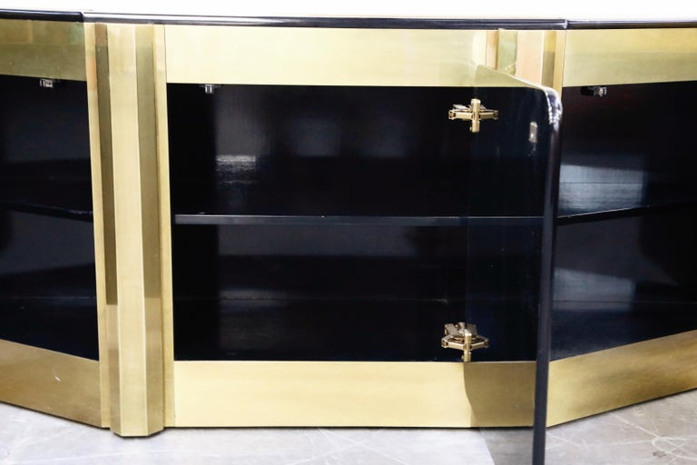 Bernhard Rohne for Mastercraft Acid Etched Brass 'Tree of Life' Cabinet, 1970s For Sale 5