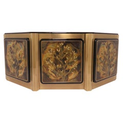 Bernhard Rohne for Mastercraft Acid Etched Brass Tree of Life Credenza