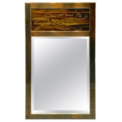 Bernhard Rohne, for Mastercraft Acid Etched 'Trumeau' Style Mirror