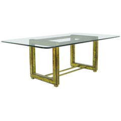 Bernhard Rohne for Mastercraft Mid-Century Modern Acid Etched Dining Table