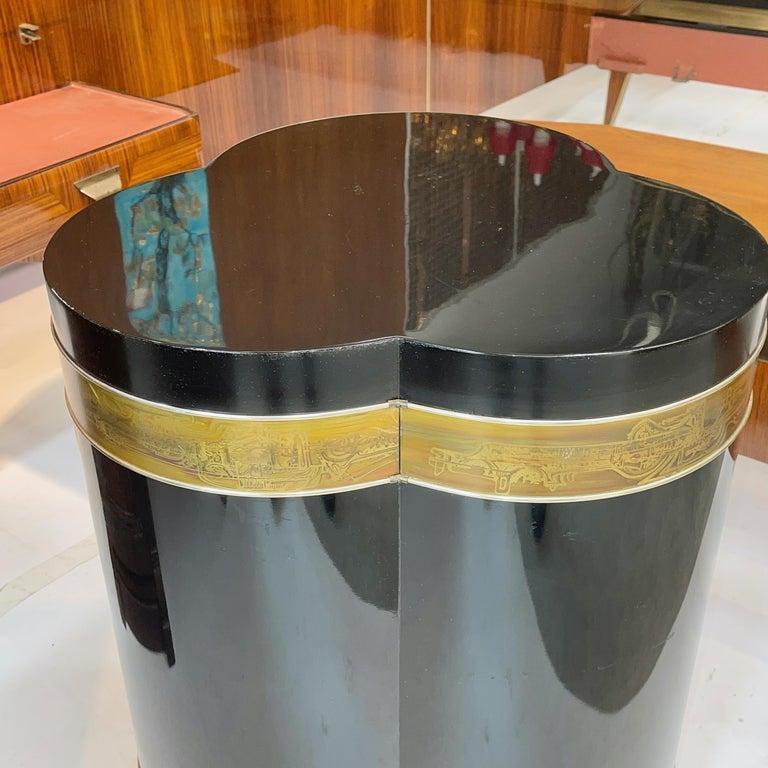 Bernhard Rohne for Mastercraft Trefoil Pedestal Table For Sale 5