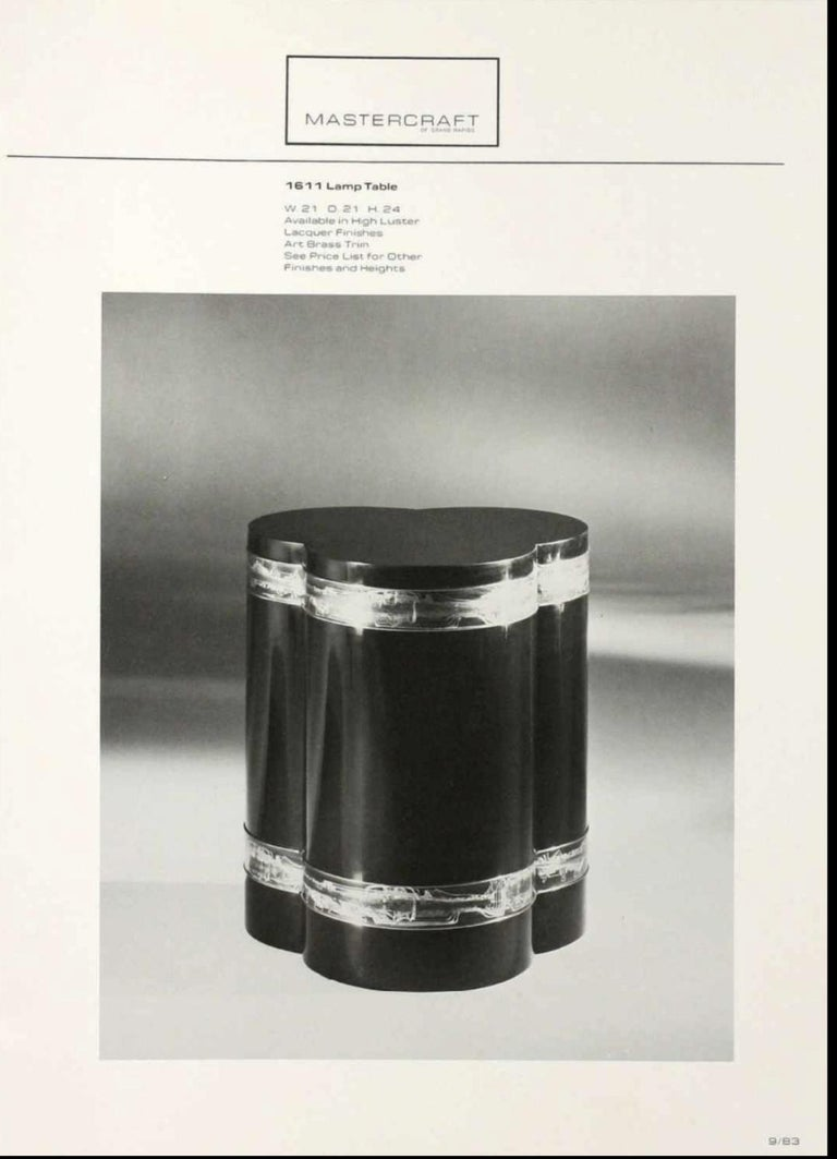Bernhard Rohne for Mastercraft Trefoil Pedestal Table For Sale 12