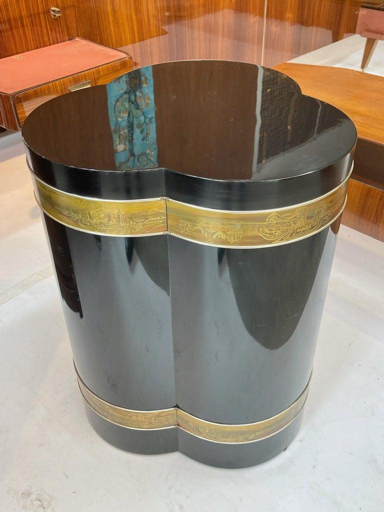 Bernhard Rohne for Mastercraft Trefoil Pedestal Table For Sale 1