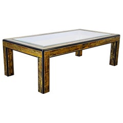 Bernhard Rohne Mastercraft Acid Etched Brass Coffee Table