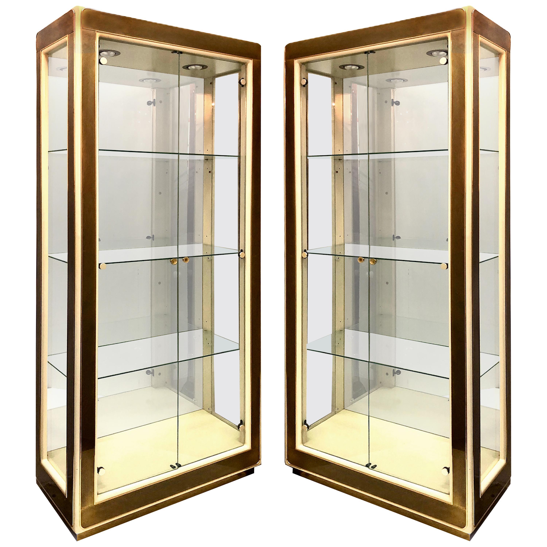 Bernhard Rohne Mastercraft Vitrine Display Cabinets, Pair