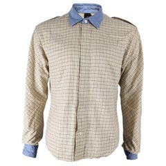 Bernhard Willhelm Mens Tattersall Check Long Sleeve Shirt
