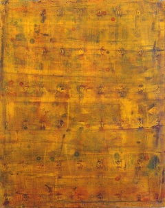 AWH 191 - Original Abstract Expressionist Yellow Colorfield Oil Painting
