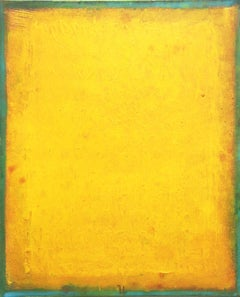 AWH 219 - Original Abstract Expressionist Yellow Colorfield Oil Painting