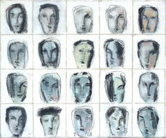 Faces 46 (Kopfbild 46) - Oil and Mixed Media Painting on Canvas