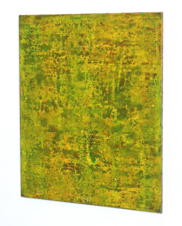 SE 33 - Original Abstract Expressionist Yellow Colorfield Oil Painting For Sale 1