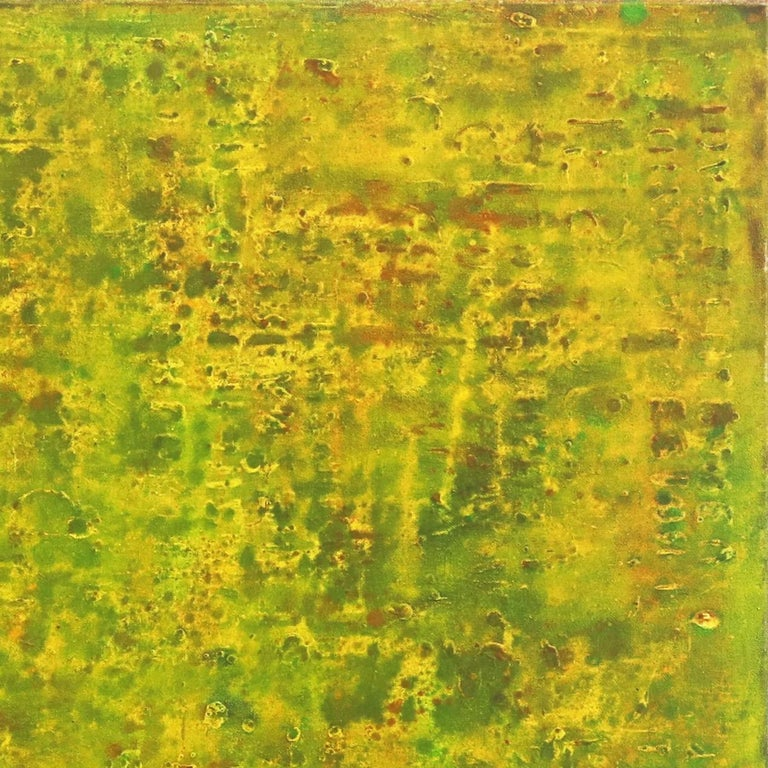 SE 33 - Original Abstract Expressionist Yellow Colorfield Oil Painting For Sale 2