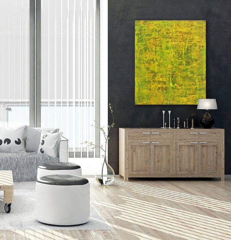 SE 33 - Original Abstract Expressionist Yellow Colorfield Oil Painting For Sale 3