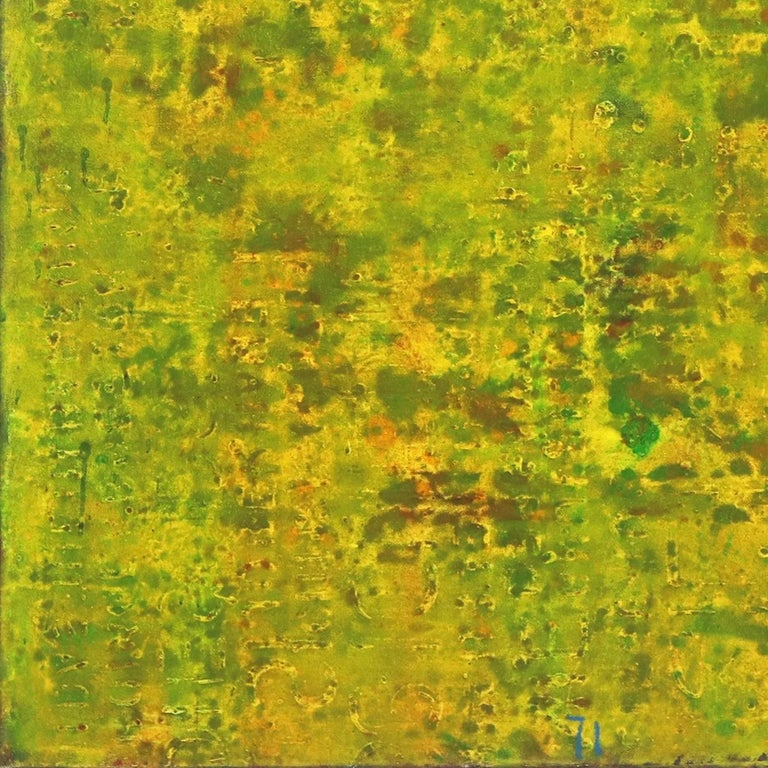 SE 33 - Original Abstract Expressionist Yellow Colorfield Oil Painting For Sale 4