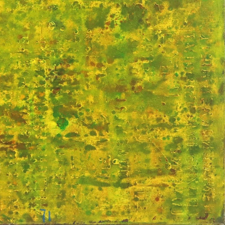 SE 33 - Original Abstract Expressionist Yellow Colorfield Oil Painting For Sale 5