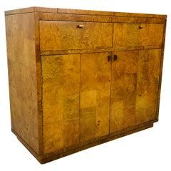 Bernhardt Burl Wood Bar Cabinet